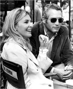 Paul Newman and Joanne Woodward - great photo.