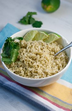 Cilantro Lime Rice Pineappleandcoconut.com @Shanna @ Pineapple and Coconut