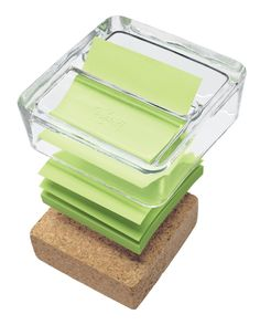 AmazonSmile : Post-it Greener Pop-up Notes Dispenser for 3 x 3-Inch Notes, Glass and Cork Dispenser : Sticky Note…
