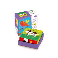 Puzzle cubes from Djeco with different colourful farm animals. Your child can build six different animals with these 4 cubes. For children from 2 years up. Wooden Block Puzzle, Wooden Blocks, Baby Learning Toys, Wooden Cubes, Cube Puzzle, Down On The Farm, Toy Store, Cool Toys, Gaming
