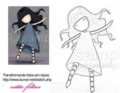 Pintura em Tecido Passo a Passo: Menina dançando- pintura em tecido