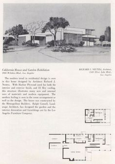 California Homes & Gardens, 1936. Margaret Atchley. This catalogs featuress designs by California architects including Richard Neutra and Paul Williams. From the Association for Preservation Technology (APT) - Building Technology Heritage Library, an online archive of period architectural trade catalogs. Select an era or material era and become an architectural time traveler.