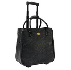8612632b556e Anna Griffin Black Rolling Tote Lady Builder Shops