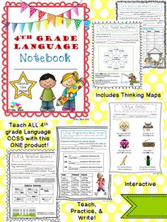 This is the ONE resource you need to teach all the 4th grade language CCSS!  Includes interactive teaching, practice, and writing opportunities!  No cutting, no pasting, just common core!