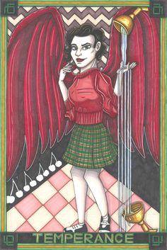 Twin Peaks Tarot Audrey Horne postcard PRINT. £1.89, via Etsy.