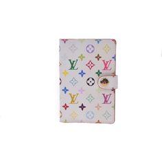 #louisvuitton Monogram Multicolore Agenda Mini M92653 Boys,Girls,Men,Women,Unisex PVC Wallet Multi-color,White