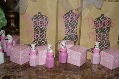 Cowgirl Party Favors #cowgirl #partyfavors