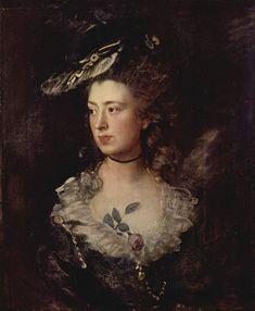 "classic-art: "" The Artist's Daughter Mary Thomas Gainsborough, 1777 "" Thomas Gainsborough, Dante Gabriel Rossetti, William Hogarth, William Turner, Adele, Jean Antoine Watteau, Art Thomas, John Everett Millais, English Artists"