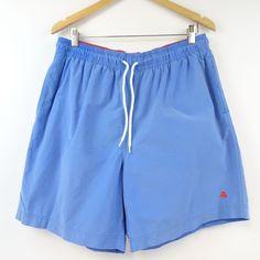 65eec79da2 BROOKS BROTHERS 346 Mens Large Swim Trunks Red Fleece Blue Board Shorts # BrooksBrothers #BoardShorts