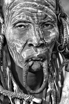 """Mursi Woman without her lip plate, Ethiopia II"" by Carlos Cass"