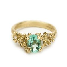 Green tourmaline and diamond cocktail ring from Ruth Tomlinson