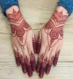 New and Trendy Bridal Mehndi designs that will rule hearts! -You can find Mehndi and more on our website.New and Trendy Bridal Mehndi designs that will rule hearts! Henna Hand Designs, Dulhan Mehndi Designs, New Bridal Mehndi Designs, Mehndi Designs Finger, Stylish Mehndi Designs, Mehndi Design Pictures, Beautiful Mehndi Design, Bridal Henna, Mehendi