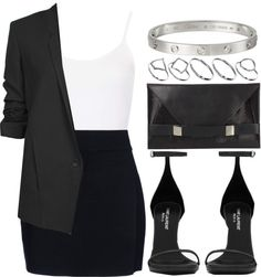 Classy minimal ootd featuring Topshop, Helmut Lang, A., Yves Saint Laurent, Unique and ASOS Classy Outfits, Chic Outfits, Fashion Outfits, Formal Outfits, Fashionable Outfits, Work Outfits, Fashion Clothes, Fashion Mode, Look Fashion