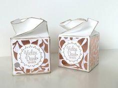 Tutorial: Sechseckbox in Blütenoptik Origami Gift Box, Diy Gift Box, Diy Box, Box Cards Tutorial, Card Tutorials, Envelope Punch Board, Paper Crafts, Diy Crafts, Vintage Box
