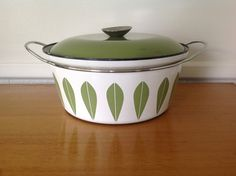 CathrineHolm Green Lotus Dutch Oven Pan by TheWelcomeTable on Etsy, $55.00