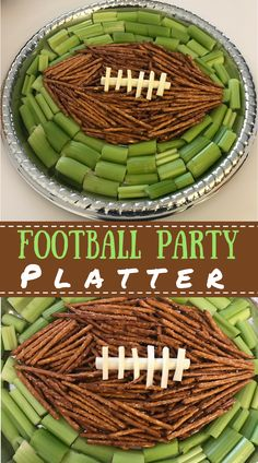 Football Party Platter Start the game off right with this easy and healthy football party appetizer that only requires a few ingredients and five mintues of your time. Football Party Foods, Football Birthday, Football Food, Superbowl Party Food Ideas, Football Desserts, Kids Football, Football Fever, Super Bowl Party, Party Platters