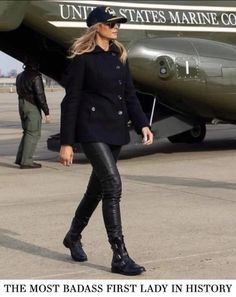 """""""The most BADASS First Lady in History! Stylish, classy, elegant and simply gorgeous! Carla Bruni, Ghana, Classy Women Quotes, Donald Trump Family, First Ladies, Donald And Melania, Trump Is My President, First Lady Melania Trump, Trump Melania"""