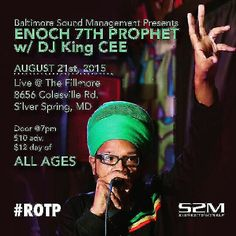 !!! LIVE TOMORROW  !!! LIVE TOMORROW !!!   #Enoch7thProphet  performing with DJ King Cee   AUGUST 21, 2015 Doors open @ 7pm  The Fillmore  8656 Colesville Rd. Silver Spring, MD    #Indienewz #thefillmore #rotptour #DMVevents