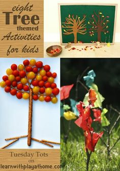 Learn with Play at home: 8 Tree themed activities for kids
