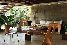 tropical modern terrace.  photo by Andrea Ferrari