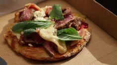 Spelt Pizza with Caramelised Onions and Beef
