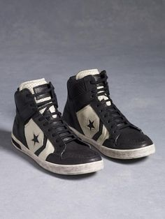 Black Leather Weapon High-Top