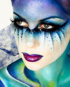 Fantasy Hair & Magical Makeup. Good idea for a fairy or pixie costume