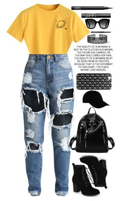 """""""touch of yellow....BUT TH3N 1T5 A11 B1ACK"""" by wishybone ❤ liked on Polyvore featuring NARS Cosmetics, Journee Collection, Gucci, Miss Selfridge, Bobbi Brown Cosmetics and STONE ISLAND"""
