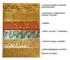 ornamenty, sgraffito, puncowanie, złocenie