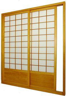 """83"""" x 73.5"""" Single Sided Sliding Door Shoji Room Divider"""