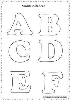 Risultati immagini per as letras do alfabeto para imprimir Alphabet Letter Templates, Printable Letters, Alphabet And Numbers, Alphabet Stencils, Alphabet Letters, Felt Crafts, Diy Crafts, Felt Name, Felt Letters