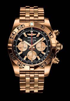 Breitling Chronomat 44 de acero y oro rosa de 40 Dia Bisel pulsera Piloto dos tonos Breitling Chronomat, Breitling Superocean Heritage, Breitling Watches, Men's Watches, Cool Watches, Fashion Watches, Fashion Men, Fashion Styles, Men Accessories