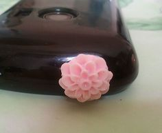 3x DUSTPROOF PLUG STOPPER PINK FLOWER JACK EARPHONE SAMSUNG LG SONY HTC iPHONE