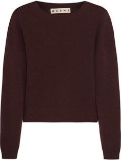 Agnona Sweater - Shop for women's Sweater - Burgundy Sweater ...