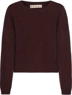 Agnona Sweater - Shop for women's Sweater - Burgundy Sweater ...