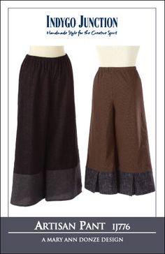 Artisan Pant | Indygo Junction: pants with center front pleat at hem detail