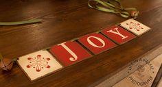 Primitive JOY CHRISTMAS BANNER Garland tdipt by thecracklingcrows, $26.00