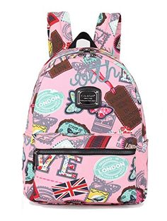 Lanpad Cute Print Backpack Mini Canvas School Bag for KidsPink *** This is an Amazon Affiliate link. Check this awesome product by going to the link at the image.