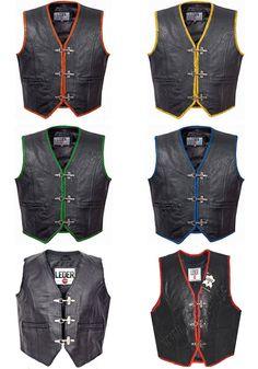 estilo SOA Leatherick Chaleco de motociclista de grano superior para hombre marr/ón envejecido con botones abiertos para montar y corte de moda de estilo chaleco