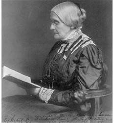 SUSAN B ANTHONY, so much we have to give thanks to SBA for. She made a lot of modern womanhood possible. A true revolutionary.