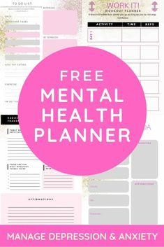 Mental Health Resources: My Planner - Radical Transformation Project - - This is the first post in my free mental health resources series. This is the planner I've been using, it has daily pages, gratitude prompts and more! Free Mental Health, Mental Health Journal, Mental Health Resources, Mental Health Awareness, Planner Pages, Printable Planner, Free Printables, Weekly Planner, Printable Calendars
