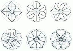 Modelos de flores para imprimir