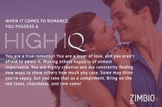 My romance IQ is High! What about you? null - Quiz