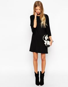 Image 4 of ASOS PETITE T-Shirt Dress with Kimono Sleeves