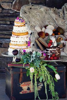 Naked Wedding Cakes by Tiffany's Baking Co.