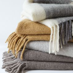 Mohair throw – Dwell Studio  If faux mohair just won't do, this throw from Dwell Studio is perfect for you. Made in India, this winter classic comes in a variety of colors and patterns and starts at $119.