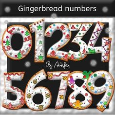 GINGERBREAD NUMBERS! Great For Christmas, Chanukah, Kwanzaa!  TeachersPayTeachers.com