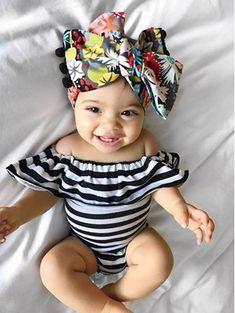 Schulterfrei Ruhm Strampler Off Shoulder Fame Rompers My Baby Girl, Baby Girl Newborn, Baby Boys, Baby Girl Bows, Infant Girls, Tween Girls, Kids Girls, Little Babies, Cute Babies