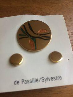 Vtg-Passille-Sylvestre-Modernist-Qc-LOT-of-12-Enamel-Brooch-and-Earring-flower
