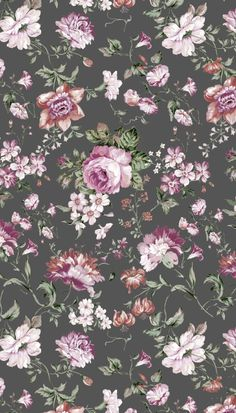 vintage, flowers and patterns image on We Heart It